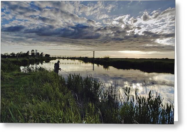 Skjern River Greeting Card by Wedigo Ferchland