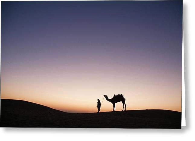 Skn 0860 Dawn At The Dunes Greeting Card by Sunil Kapadia