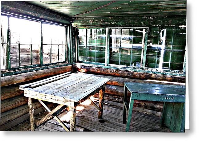 Skookum Butte Lookout Cabin  Greeting Card