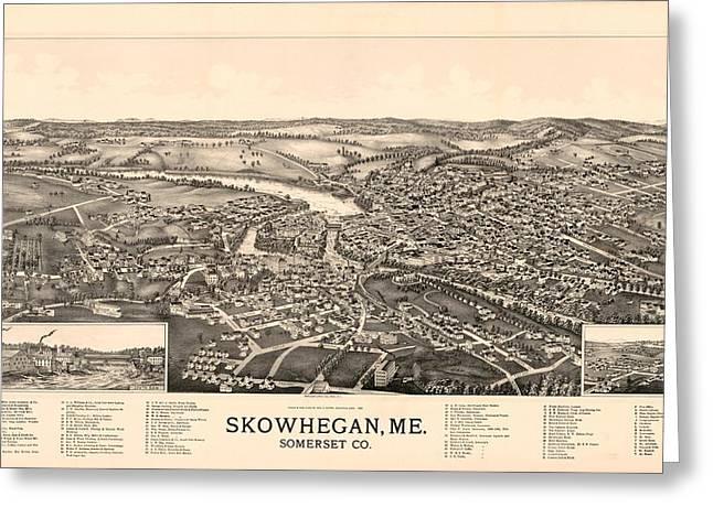 Skowhegan Maine 1892 Greeting Card by Mountain Dreams