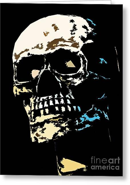 Skull Against A Dark Background Greeting Card