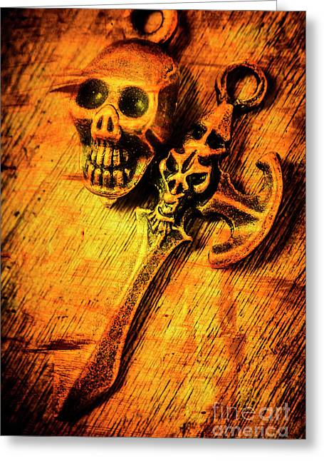 Skull And The Sword Greeting Card