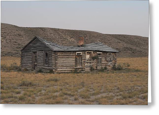 Old Western Photos Greeting Cards - Skull Canyon Homestead Greeting Card by Brent Easley