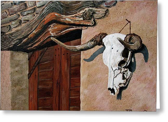 Skull En La Casa Greeting Card