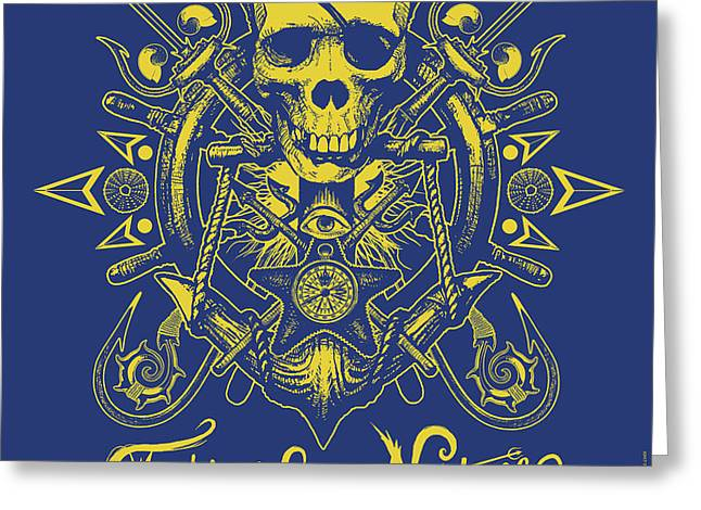 Skull F4n Greeting Card by Tony Koehl