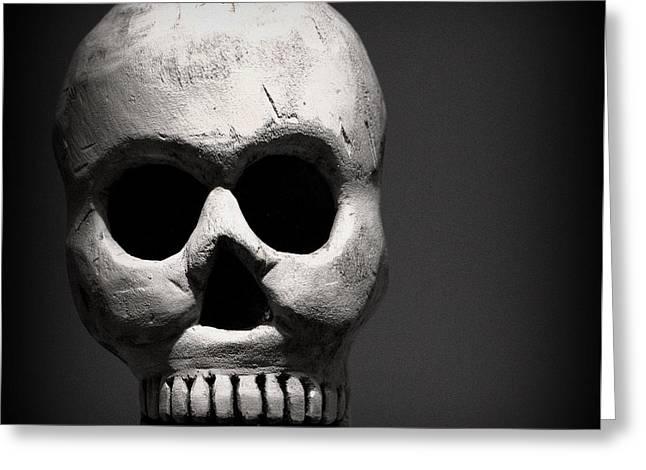 Skull Greeting Card by Joseph Skompski