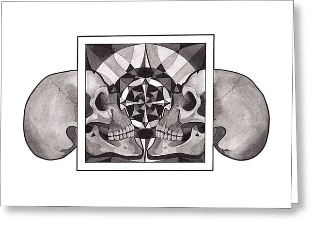 Skull Mandala Series Nr 1 Greeting Card