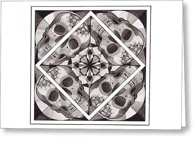 Skull Mandala Series Number Two Greeting Card by Deadcharming Art