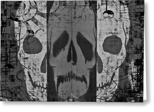 Skull Greeting Card by Marianna Mills