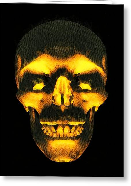 Skull Of Death Greeting Card by Pierre Blanchard