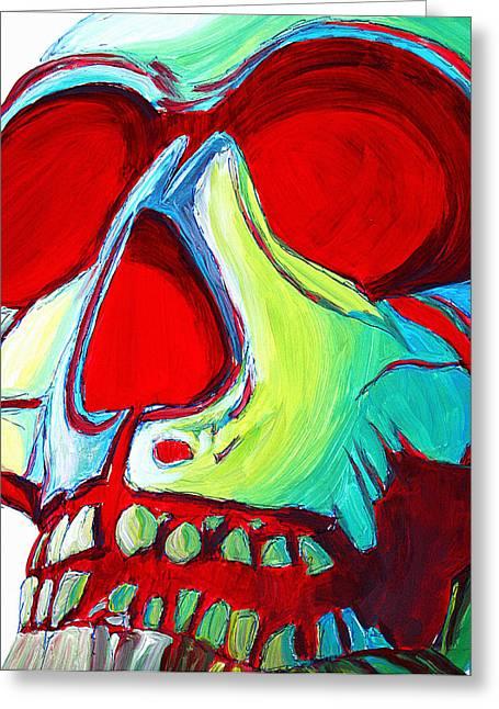 Skull Original Madart Painting Greeting Card