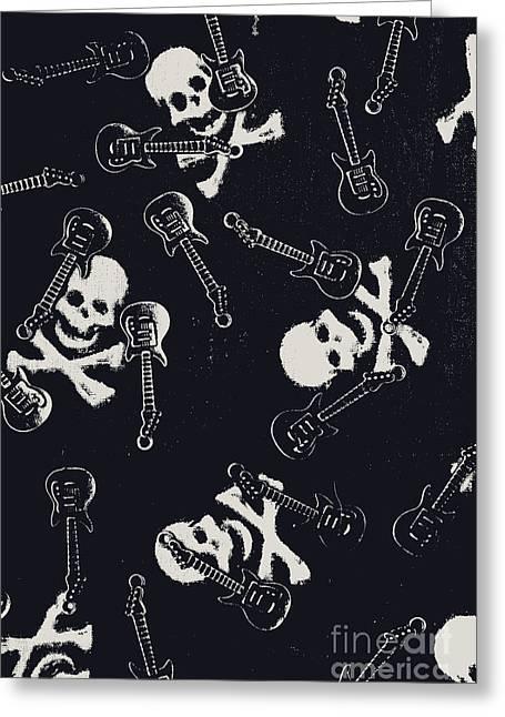 Skull Rockers Art Greeting Card