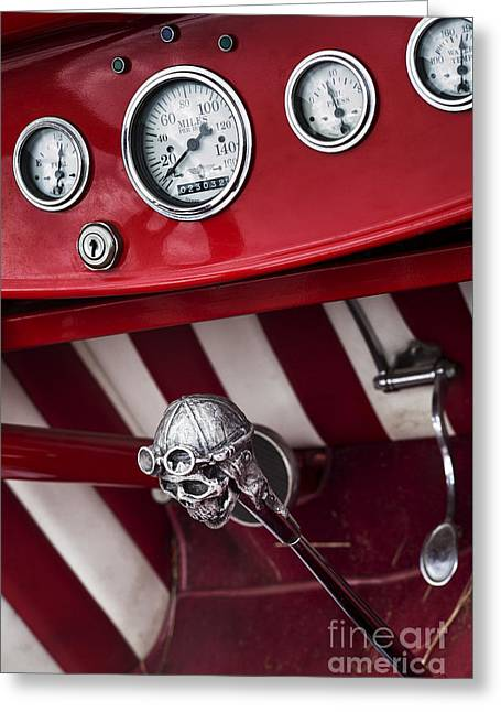 Skull Shifter Greeting Card by Tim Gainey