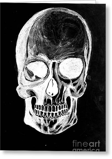 Skull Study 3 Greeting Card
