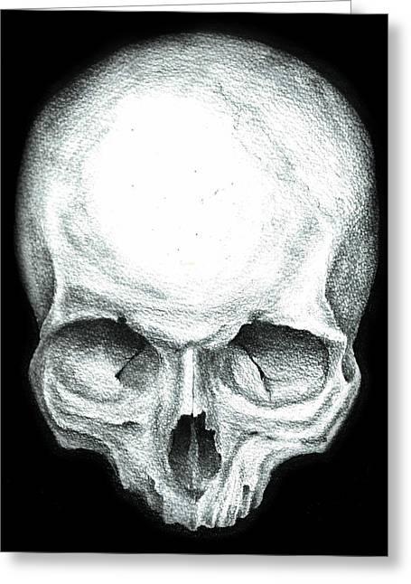 Skull Study No.4 Greeting Card by Ian Morgan
