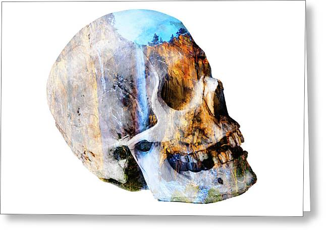 Skull Waterfall Greeting Card