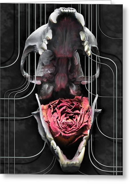 Skullflower Greeting Card