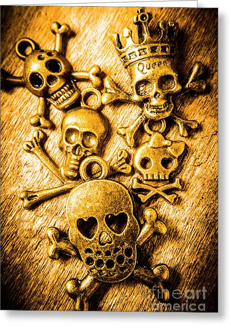 Skulls And Crossbones Greeting Card by Jorgo Photography - Wall Art Gallery
