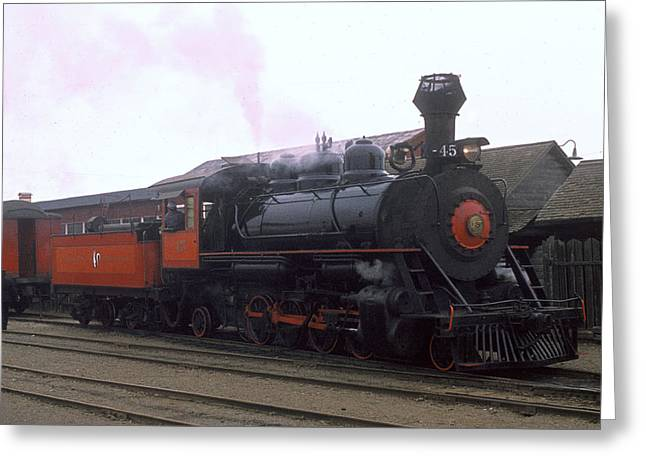 Skunk Train No 45 Fort Bragg California Greeting Card by Brian Lockett