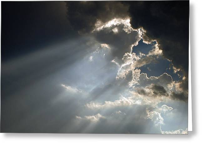 Sky 8-2 Greeting Card by Skip Willits