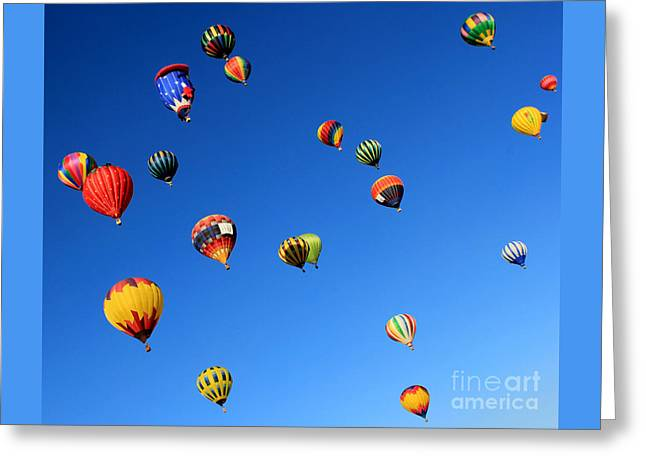 Sky Adventure Greeting Card by Krissy Katsimbras