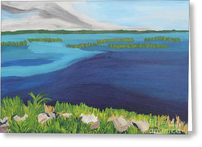 Serene Blue Lake Greeting Card