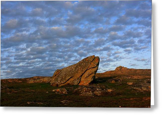 Sky And Rock - Etel Township, Brittany, Morbihan, France Greeting Card