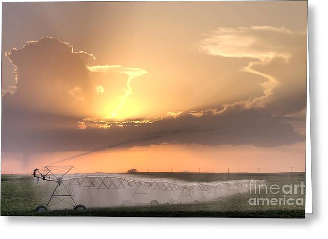 Sky And Water Greeting Card by Art Whitton