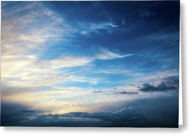 Sky At Airport Mesa - Sedona Greeting Card by Jennifer Rondinelli Reilly - Fine Art Photography