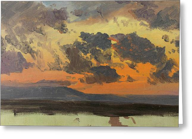 Sky At Sunset Jamaica West Indies Greeting Card
