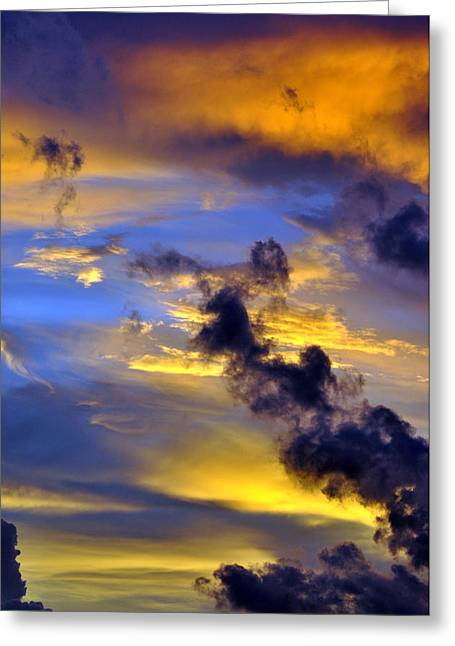 Sky At Sunset Greeting Card by Rose  Hill