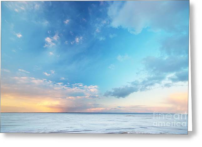 Sky Background Greeting Card by Caio Caldas
