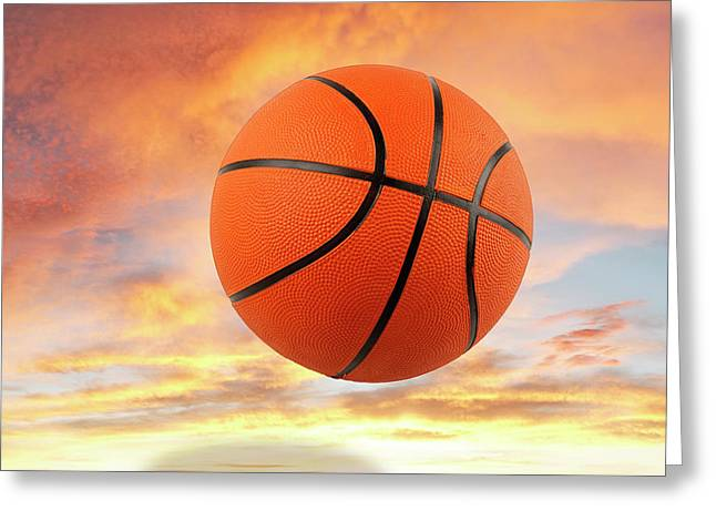 Sky Basketball  Greeting Card by Les Cunliffe