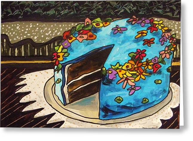 Sky Blue Cake Greeting Card by John Williams