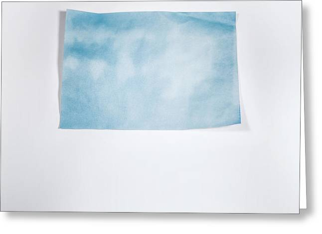 Sky Blue On White Greeting Card by Scott Norris