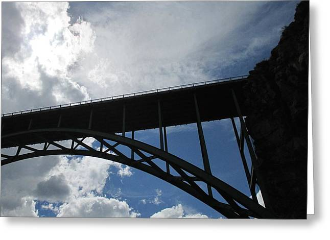 Sky Bridge Greeting Card