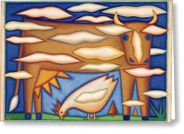Sky Cow Greeting Card by Mary Anne Nagy