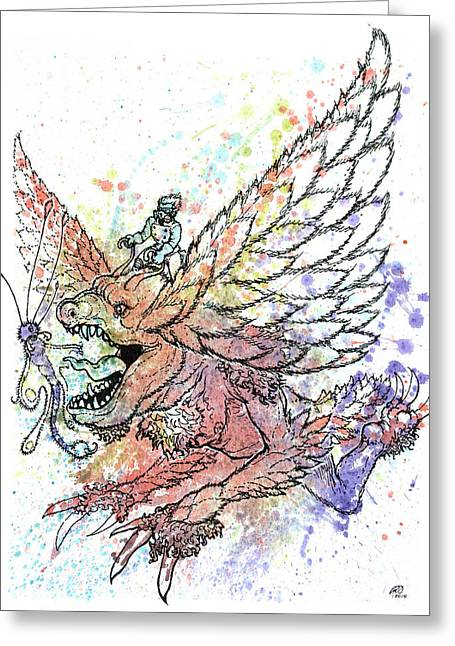 Sky Creature - Assault Trooper Greeting Card by Ryan Irish