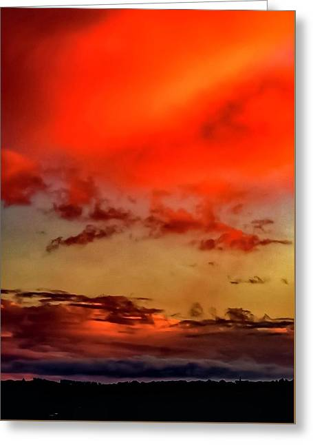 Greeting Card featuring the photograph Sky Drama  by Cliff Norton