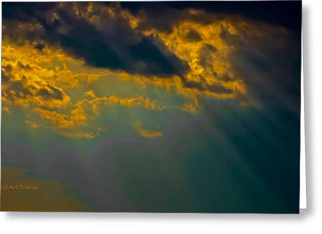 Sky Effects Greeting Card by DigiArt Diaries by Vicky B Fuller