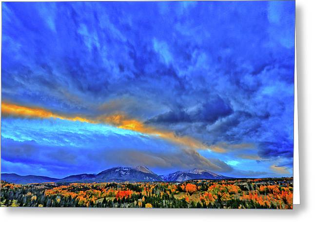 Greeting Card featuring the photograph Sky Fall by Scott Mahon