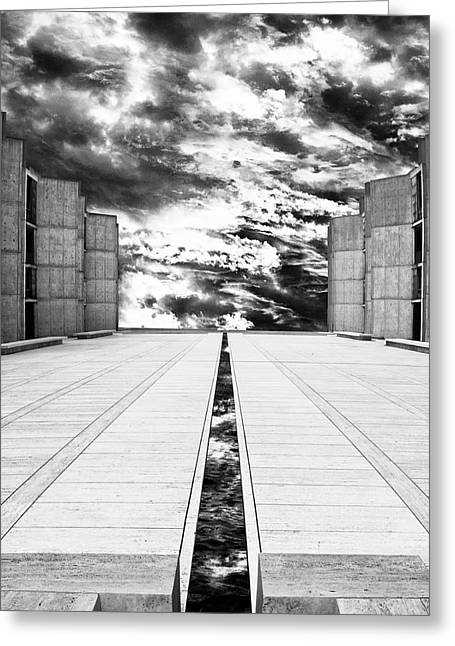 Sky Flow Black And White La Jolla Greeting Card by William Dey