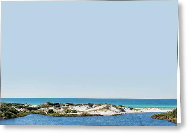 Sky Gulf Dunes Lake Greeting Card