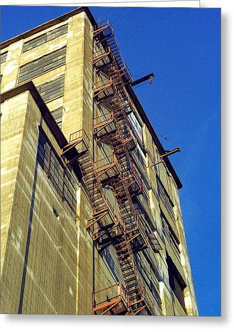 Greeting Card featuring the photograph Sky High Warehouse by T Brian Jones