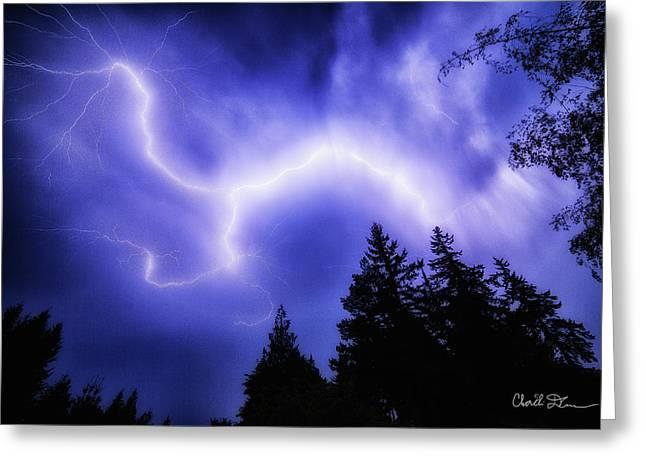 Sky Lightning Greeting Card