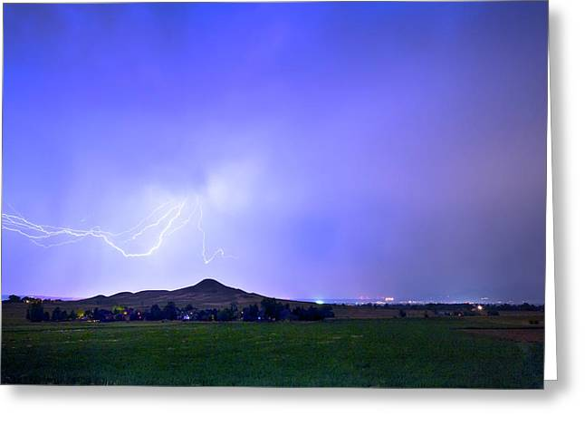 Greeting Card featuring the photograph Sky Monster Above Haystack Mountain by James BO Insogna