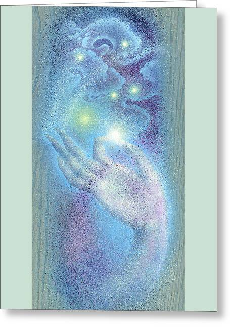 Greeting Card featuring the painting Sky Mudra by Ragen Mendenhall