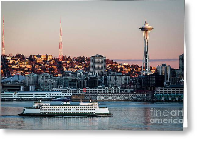 Space Needle.seattle,washington Greeting Card