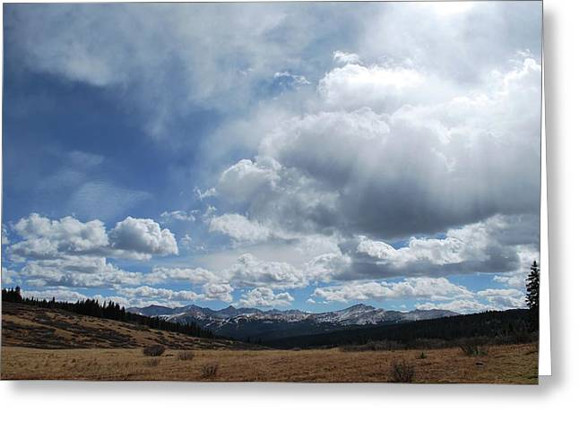 Greeting Card featuring the photograph Sky Of Shrine Ridge Trail by Amee Cave