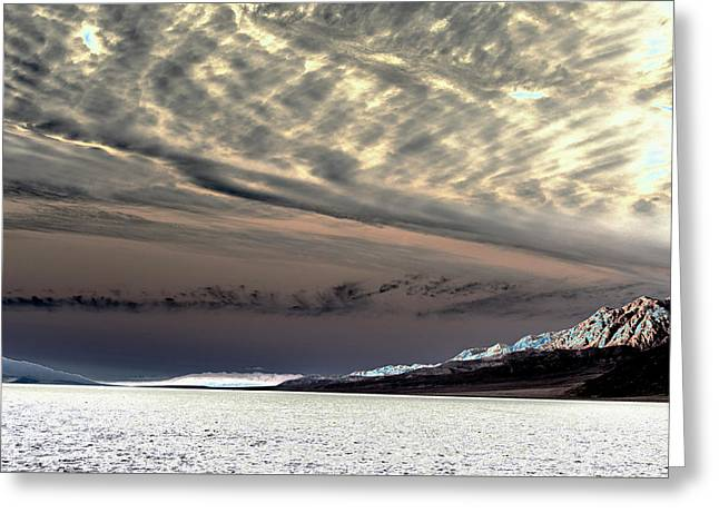 Sky Over Badwater Greeting Card